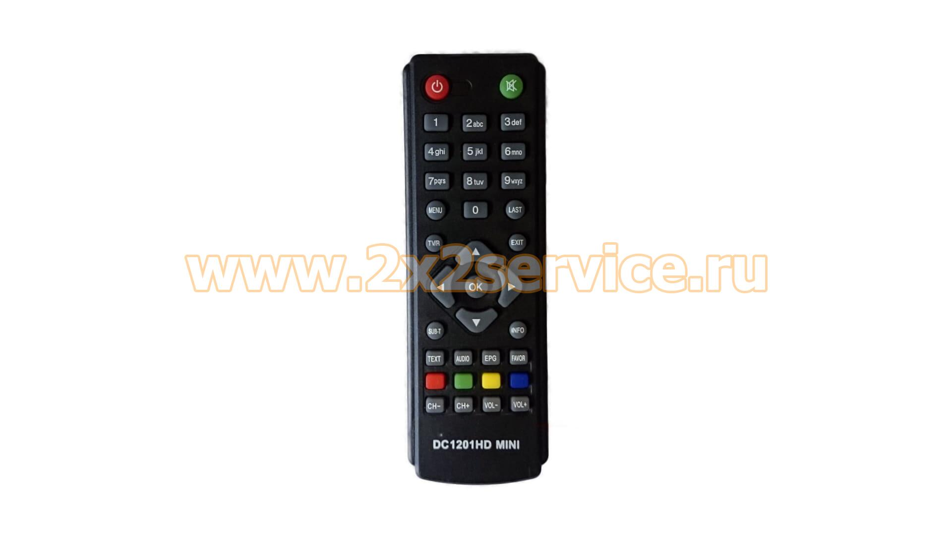 Пульт тв-приставки DVB-T2 D-Color DC1201HD mini